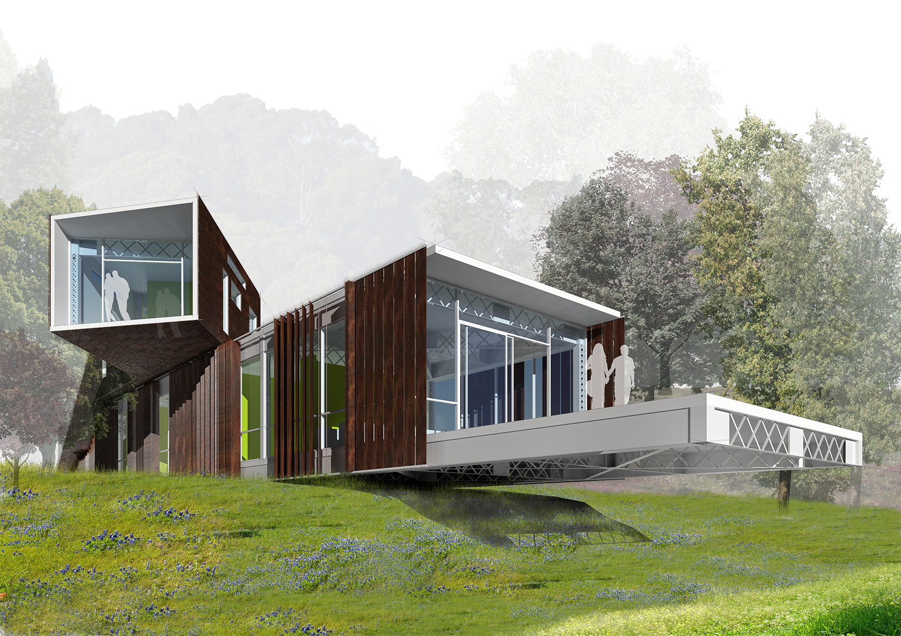 Honorable Mentions Bay Bridge House Design Competition Eco Industrial House Recycle